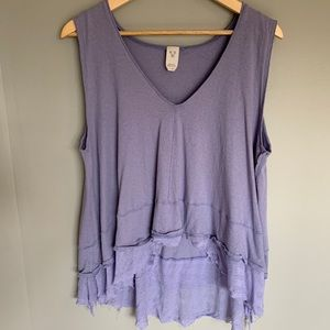 Free People We The Free Purple Periwinkle Tank M